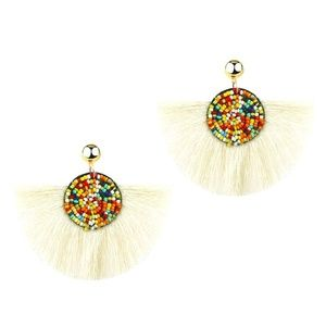 Fringe colourful earrings